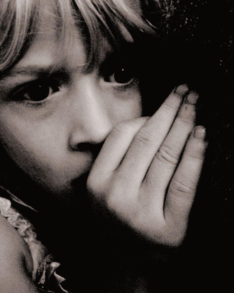 Traumatized child.