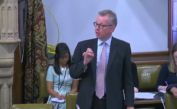 Michael Gove Gave A Speech With His Flies
