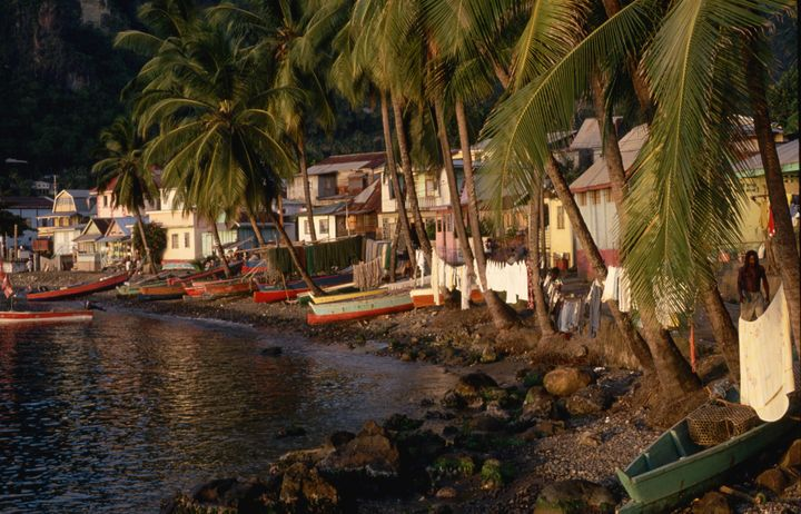 Visit the pretty fishing village of Soufriere by boat.