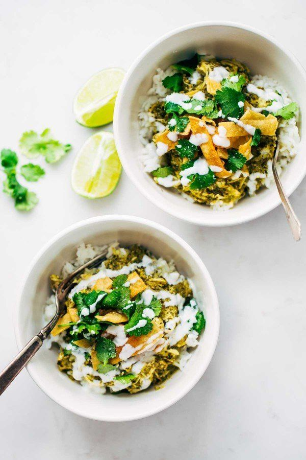 """<strong>Get the <a href=""""http://pinchofyum.com/roasted-tomatillo-chicken-and-rice-bowls"""" target=""""_blank"""">Roasted Tomatillo Ch"""