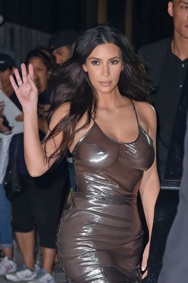Kim Kardashian steps out of her Airbnb apartment in New York on Sept.