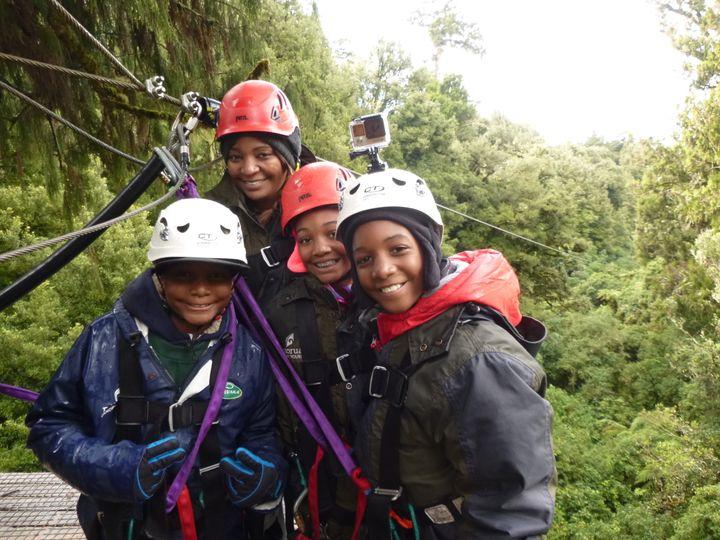 4 Deep ziplining through the New Zealand rainforest