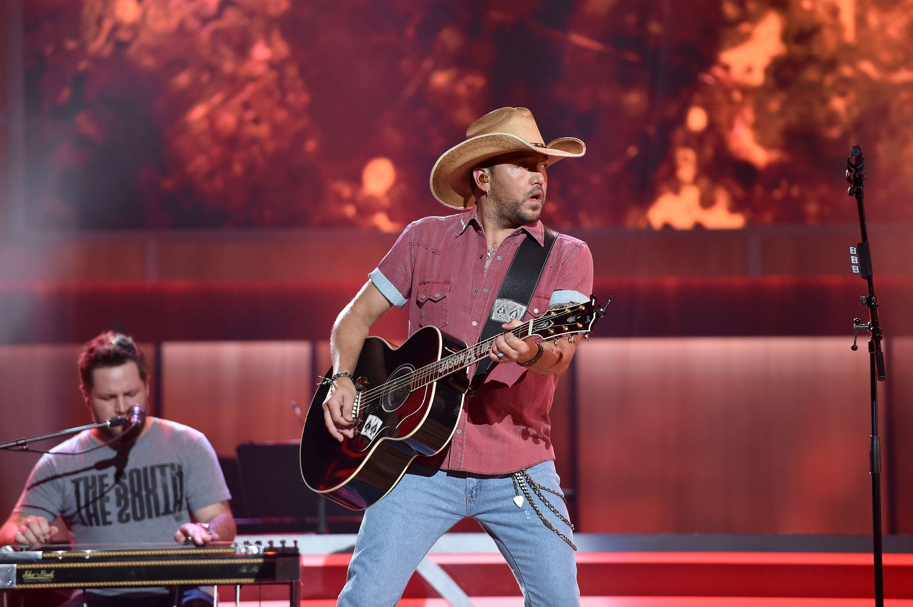 NASHVILLE, TN - AUGUST 30:  Singer Jason Aldean performs during the 10th Annual ACM Honors at the Ryman Auditorium on August 30, 2016 in Nashville, Tennessee.  (Photo by John Shearer/Getty Images for ACM)
