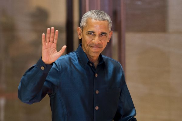 Obama attends the gala dinner during the second day of the Association of Southeast Asian Nations Summit in Vientiane.