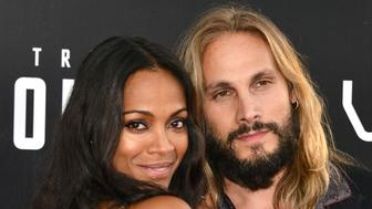 SAN DIEGO, CA - JULY 20:  Zoe Saldana and Marco Perego attend the premiere of Paramount Pictures' 'Star Trek Beyond' at Embarcadero Marina Park South on July 20, 2016 in San Diego, California.  (Photo by Araya Diaz/WireImage)