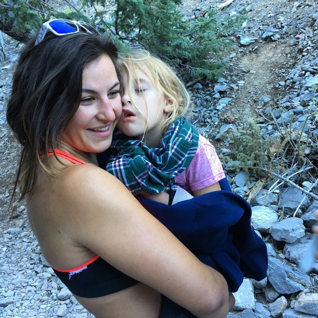 MMA fighter Miesha Tate is seen carrying a 6yearold girl that had fallen and broken her arm