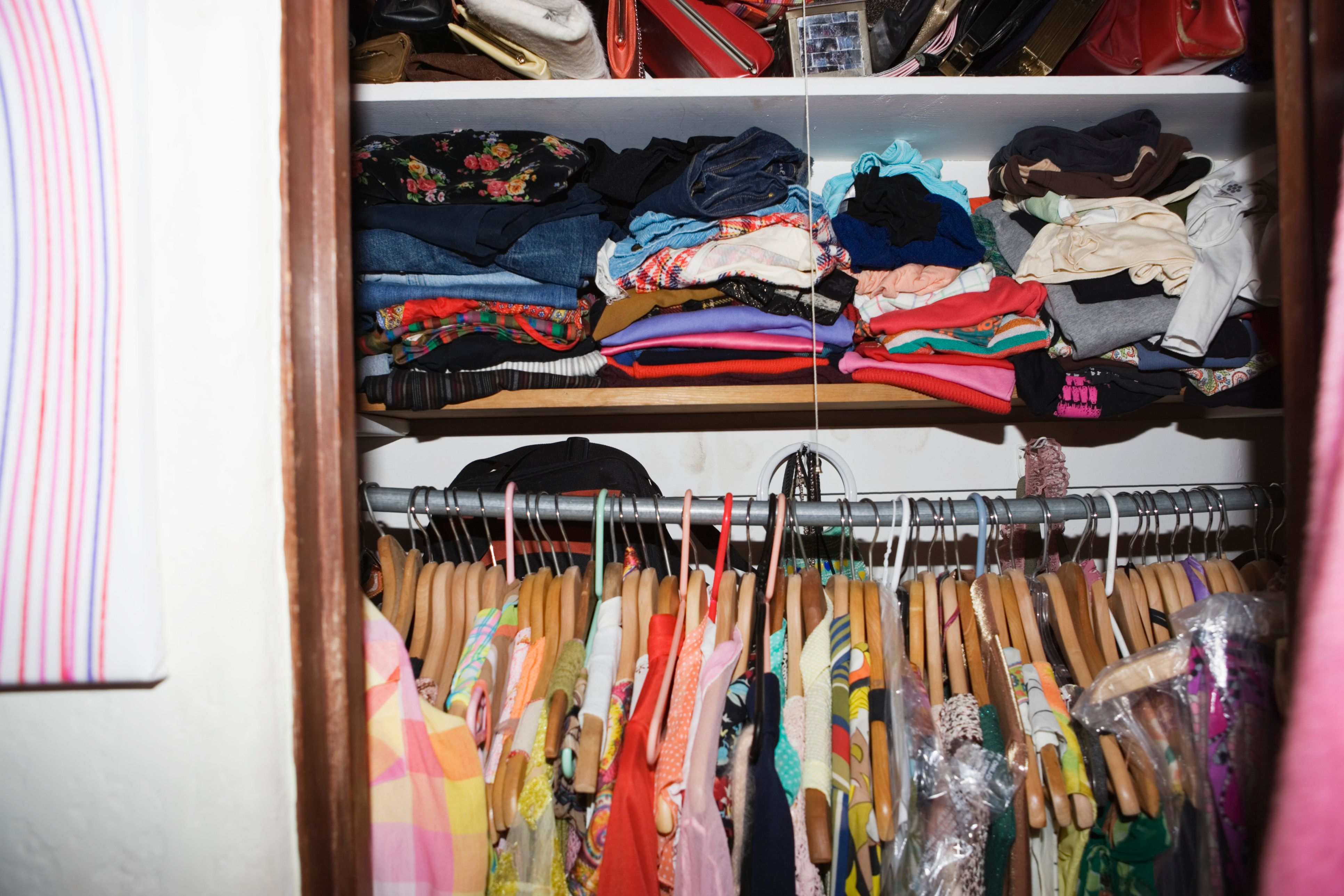Closet full of clothing