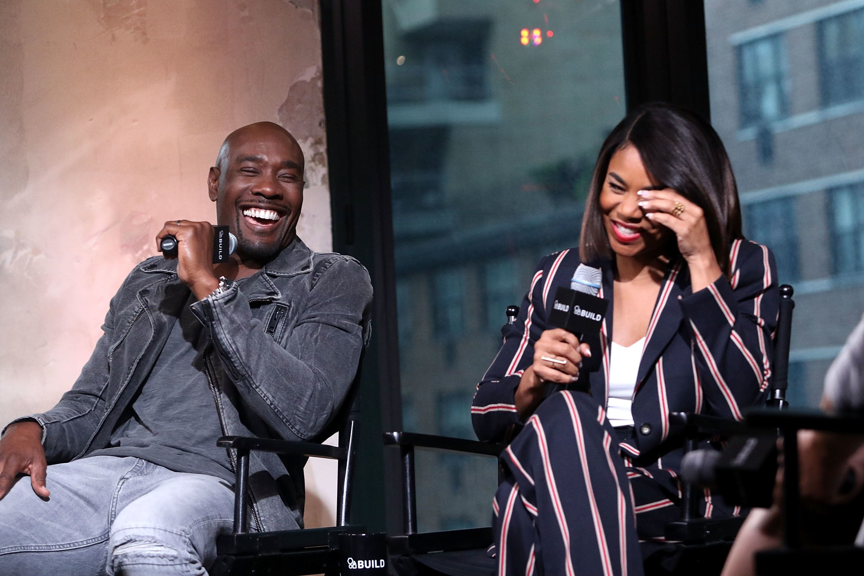 NEW YORK, NY - SEPTEMBER 06:  Regina Hall and Morris Chestnut attend The BUILD Series Presents to discuss The New Film 'When the Bough Breaks' at AOL HQ on September 6, 2016 in New York City.  (Photo by Laura Cavanaugh/FilmMagic)