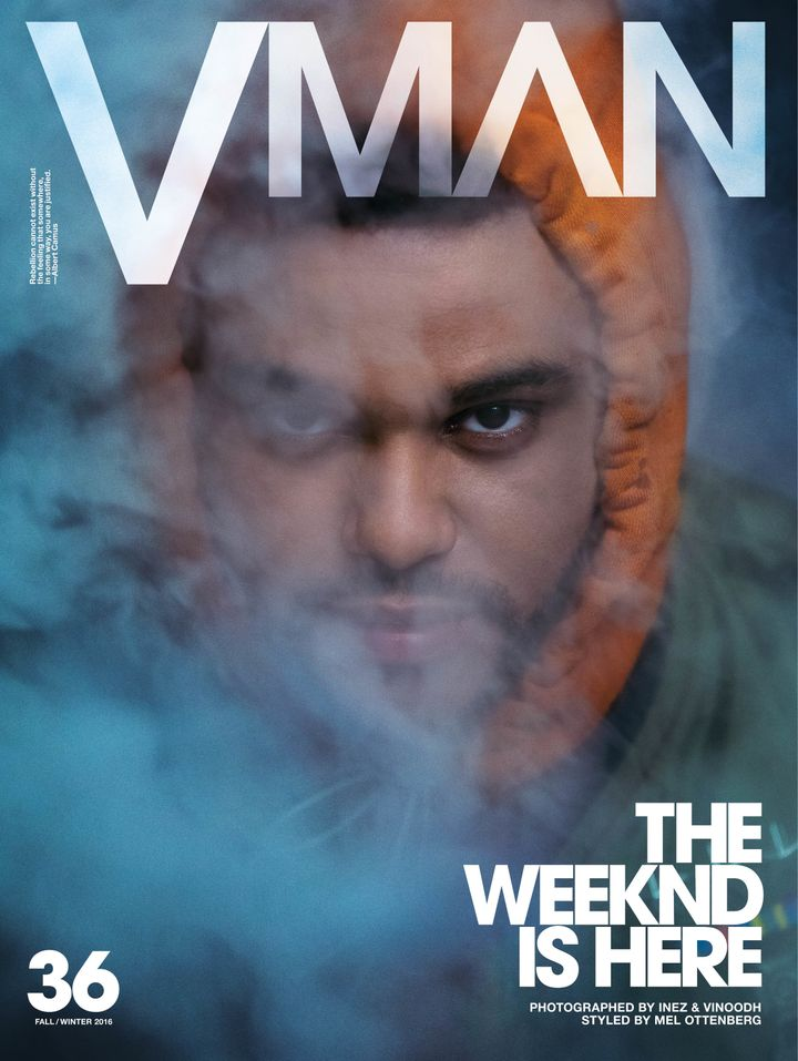 The Weeknd covers theFall/Winter 2016 issue of V Man magazine.