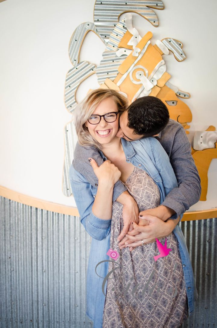 Angela Gallo and Manuel Rosario took their engagement photos at Chipotle, which was also the location of their first date.