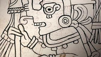 A detail of an image from page 4 of the Grolier Codex