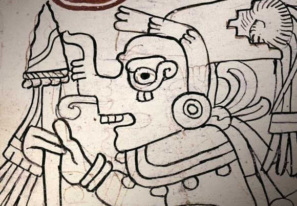Detail of an image from page 4 of the Grolier Codex