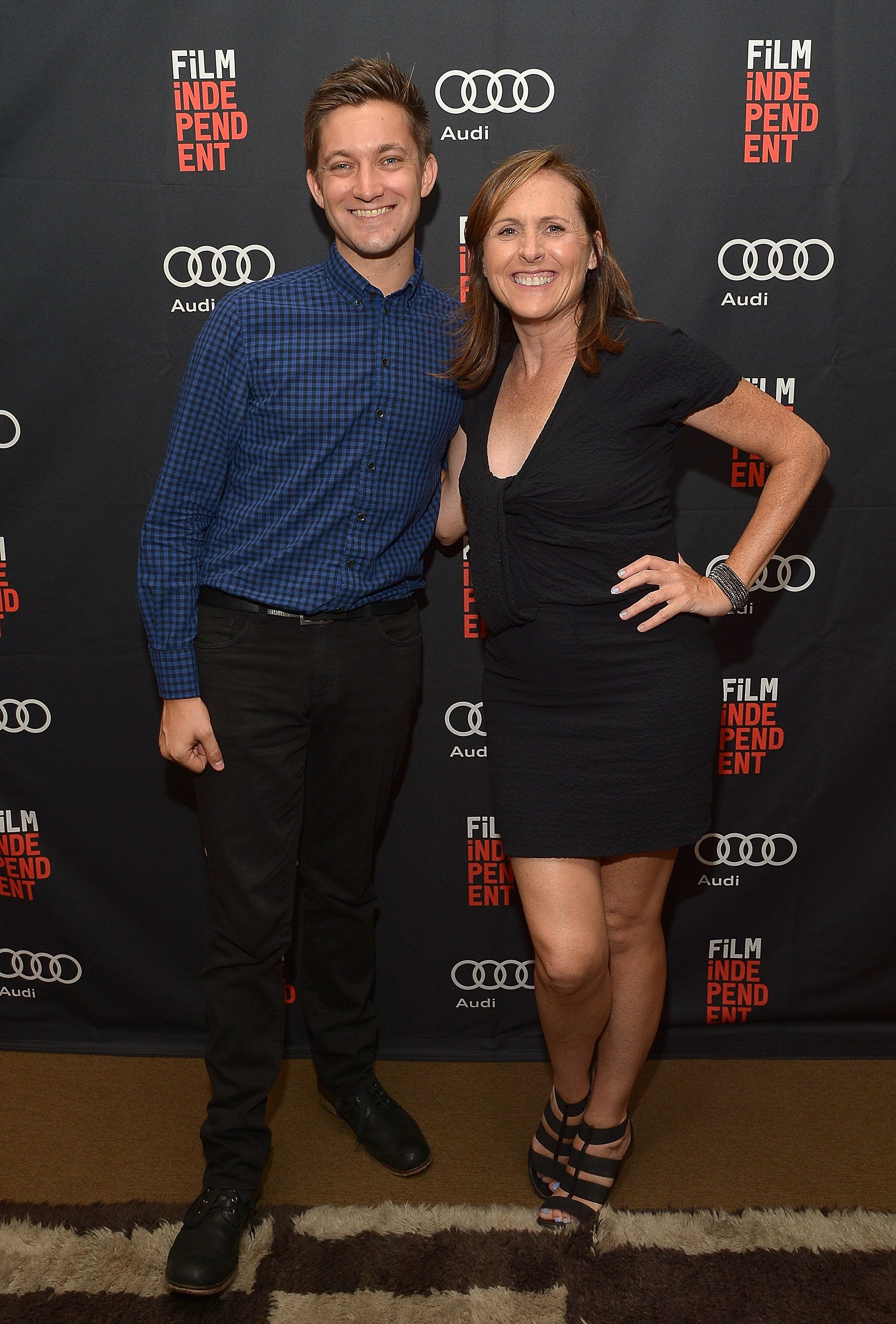 HOLLYWOOD, CA - JULY 28:  Writer-director Chris Kelly and actress Molly Shannon attend an exclusive screening of 'Other People' presented by Audi and Film Independen at NeueHouse Los Angeles on July 28, 2016 in Hollywood, California.  (Photo by Charley Gallay/Getty Images for Audi of America)