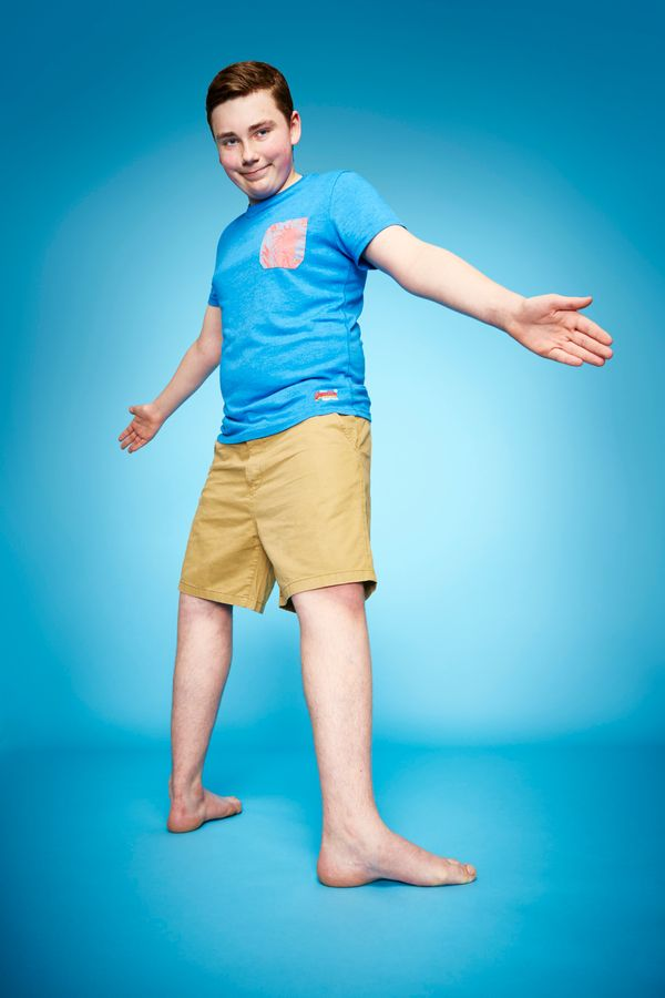 Teenager Maxwell Day of London is able to rotate his feet 157 degrees.