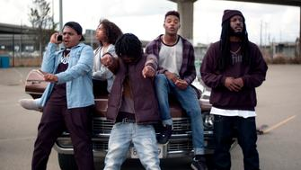 Christopher Jordan Wallace Jahking Guillory Dante Clark Christopher Meyer and Donte Clark star in Kicks