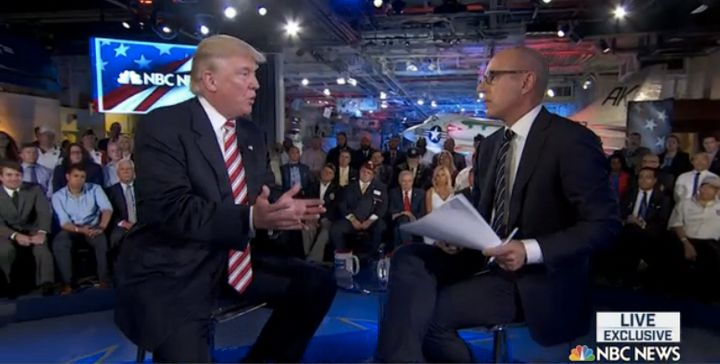 Matt Lauer is the latest reporter to let Donald Trump get away with claiming he has always been opposed to invading Iraq.&nbs