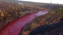 River Turns Blood Red, But Official At Nearby Factory Says It Looks