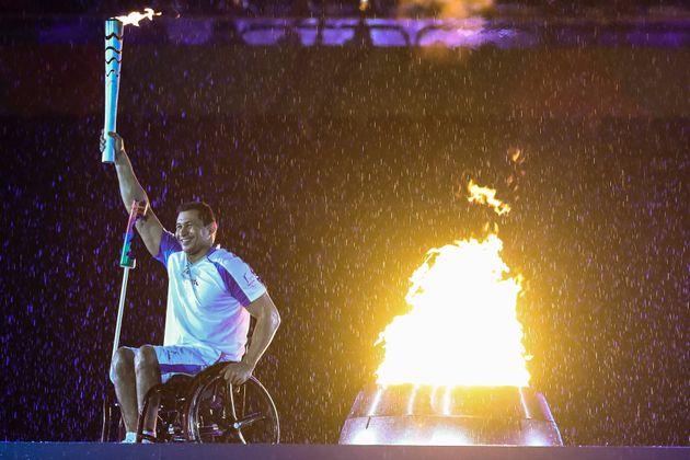 Silva beams having officially opened the Rio