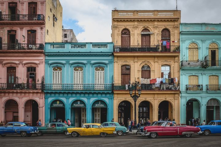 Havana, Cuba's colourful colonial capital is famous for its many photogenic vintage American cars.