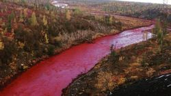 Russian River Flowing Through The Arctic Circle Turns Blood