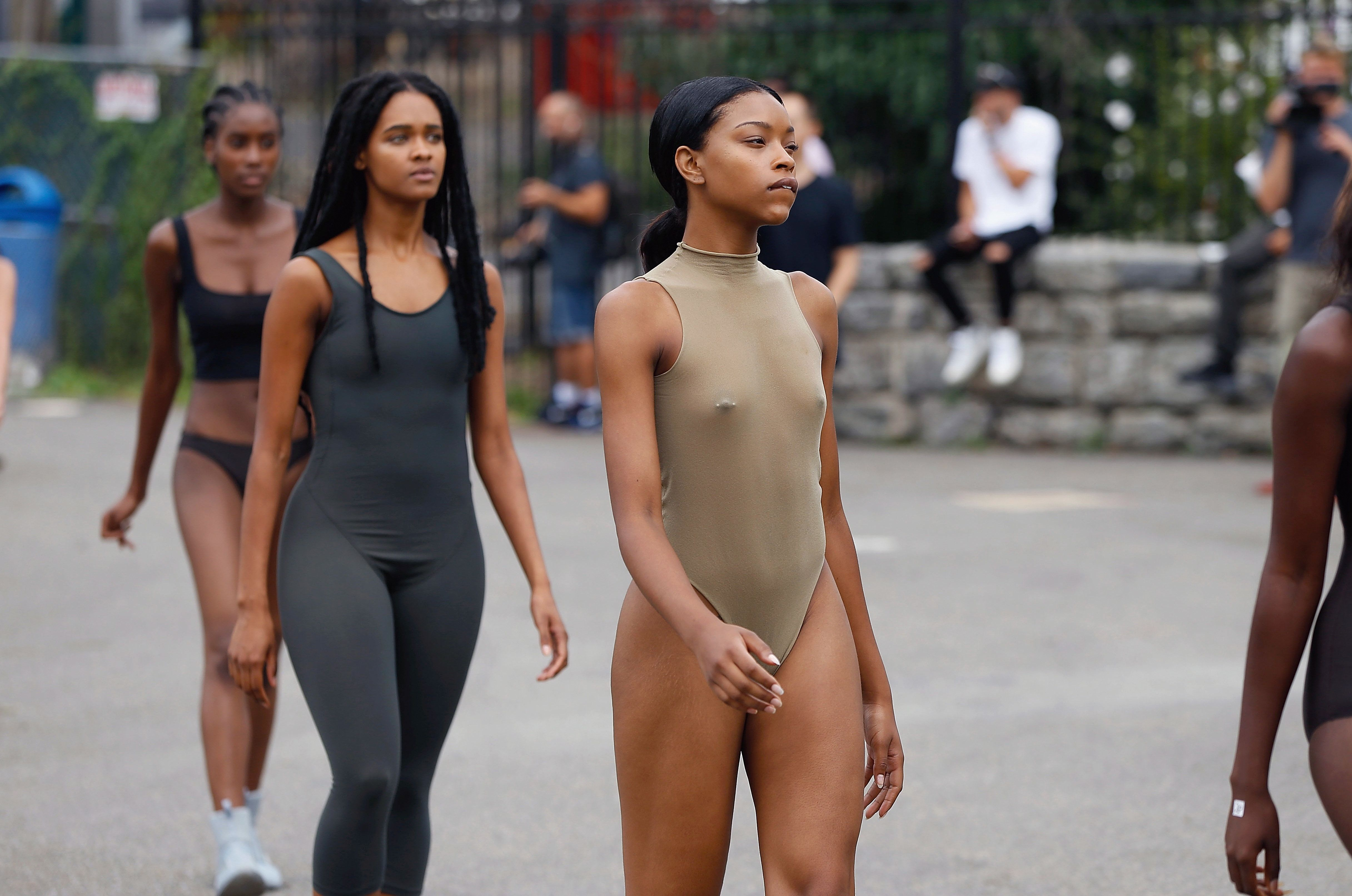 NEW YORK, NY - SEPTEMBER 07:  Models are seen during a walk through at the Yeezy Season 4  fashion show on September 2016 New York Fashion Week: The Shows at Four Freedoms Park on September 7, 2016 in New York City.  (Photo by John Lamparski/WireImage)