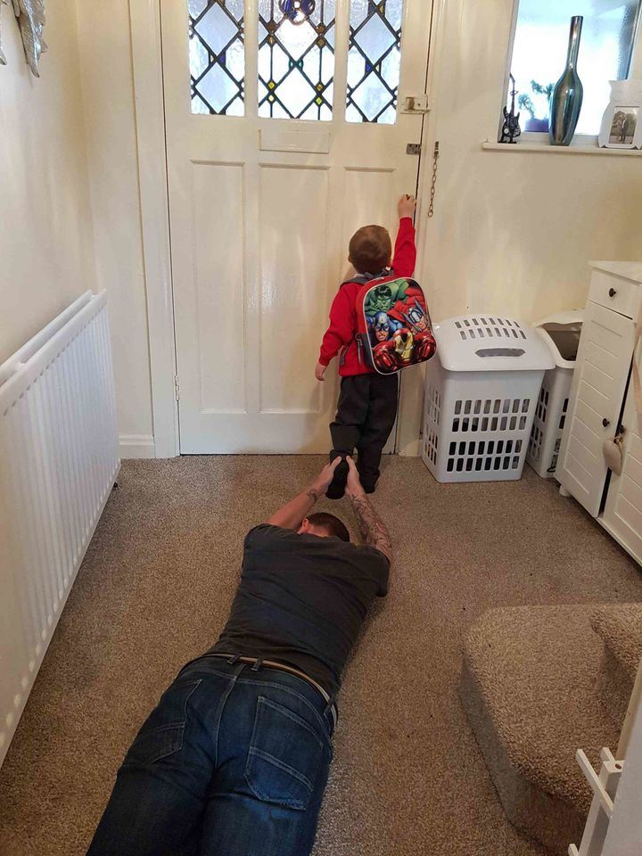 """My son's first day at school today. I handled it really well...."""
