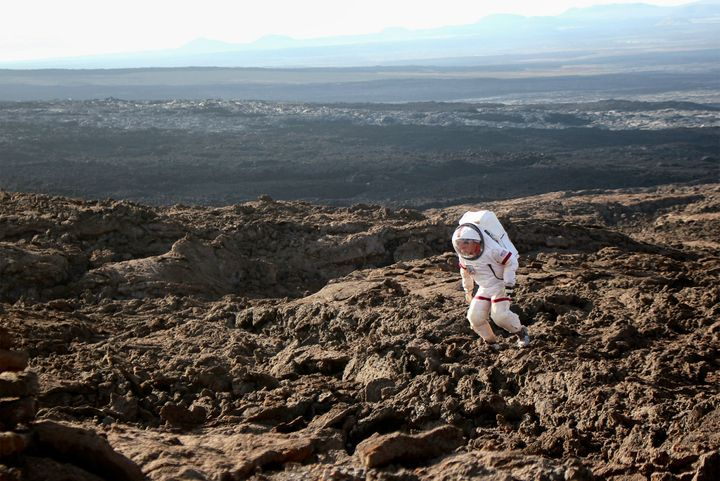 Six crew members recently spent a year on simulated Mars, a mission that included wearing space suits each time they left the