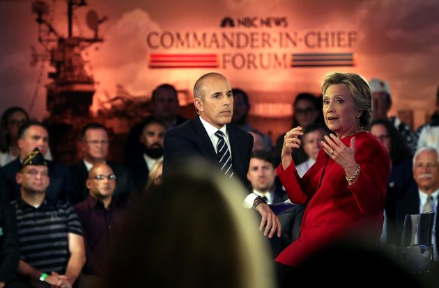 Hillary Clinton speaks during the NBC News Commander-in-Chief forum on September 7, 2016 in New York