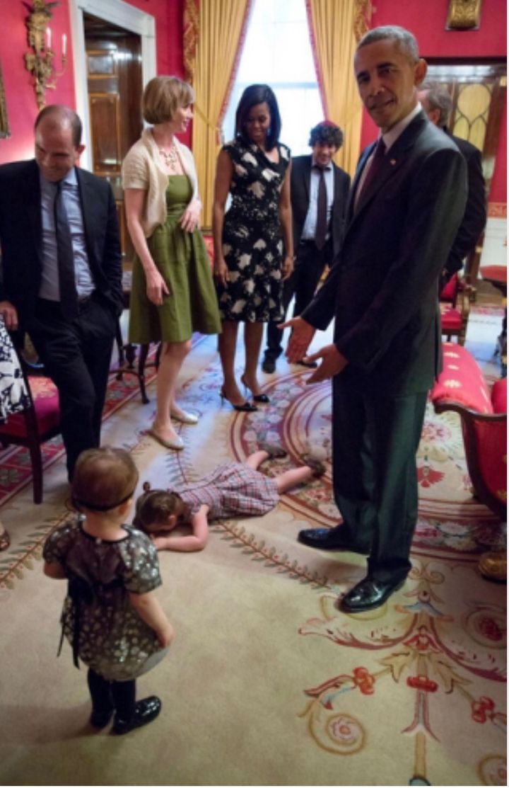 As every parent knows, the rule is: The more momentous the place or occasion, the bigger the meltdown. Remember that awesome photo of the toddler facedown at the White House while a bemused President Barack Obama looked on?