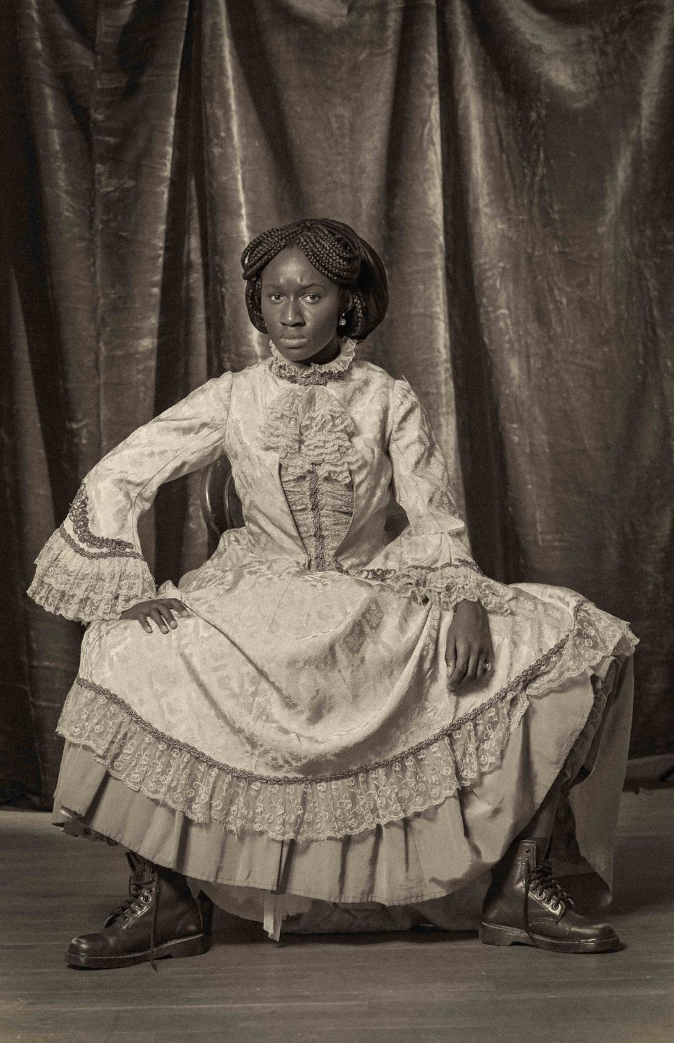 artist reenacts th century portraits to topple the strong black heather agyepong along nine other young artists are working to show black women in the u k and beyond that they are not alone