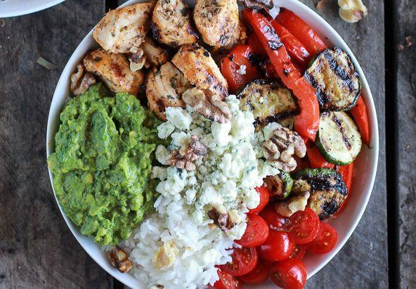 California chicken, veggie, avocado and rice bowl.