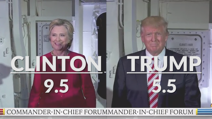 Clinton smiled four more times than Trump on Wednesday.