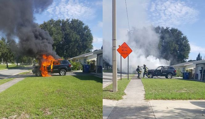 Nathan Dornacher, who owned a Samsung Galaxy Note 7, shared photos of his Jeep burning outside his house on Monday.