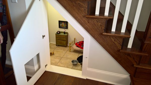 Originally, McCall planned to use the tiny room to hold Poncho's dog crate. However, once she found an American Girl br