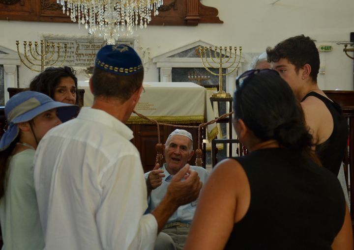 """""""Being here is important to me. This is my synagogue, I grew up here,"""" says Modiano."""