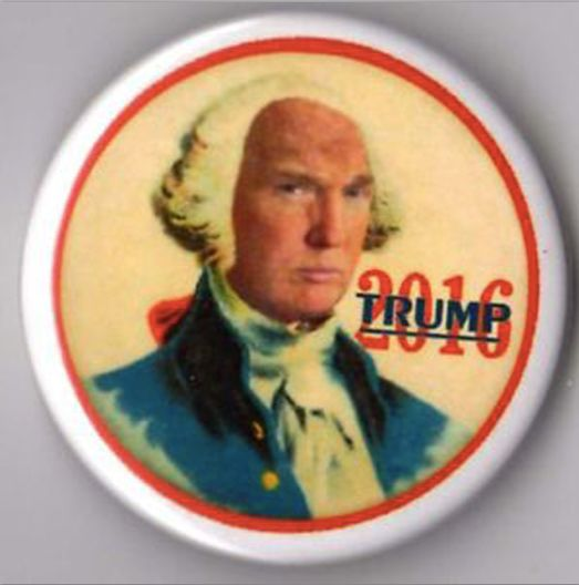 New campaign button on sale at Mount Trump @ $2.95