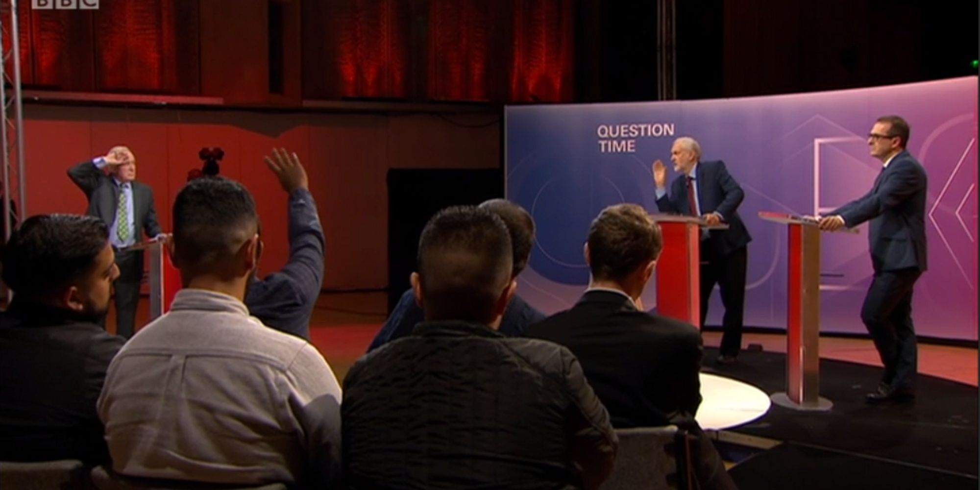 Image result for BBC Question time corbyn and smith