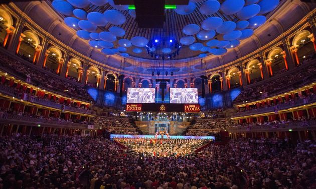 The BBC Symphony Orchestra performs at the last night of the BBC Proms festival last