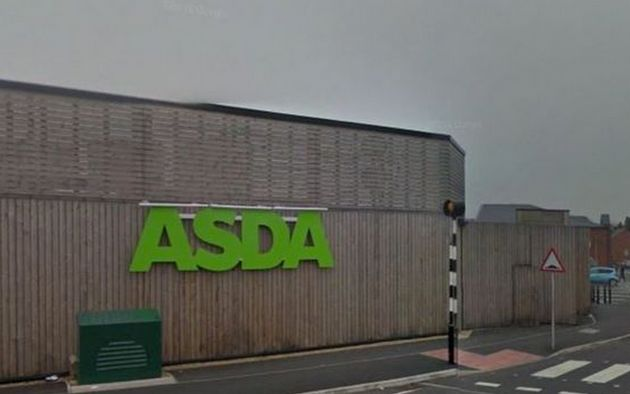 The attack happened at an Asda store inUttoxeter,
