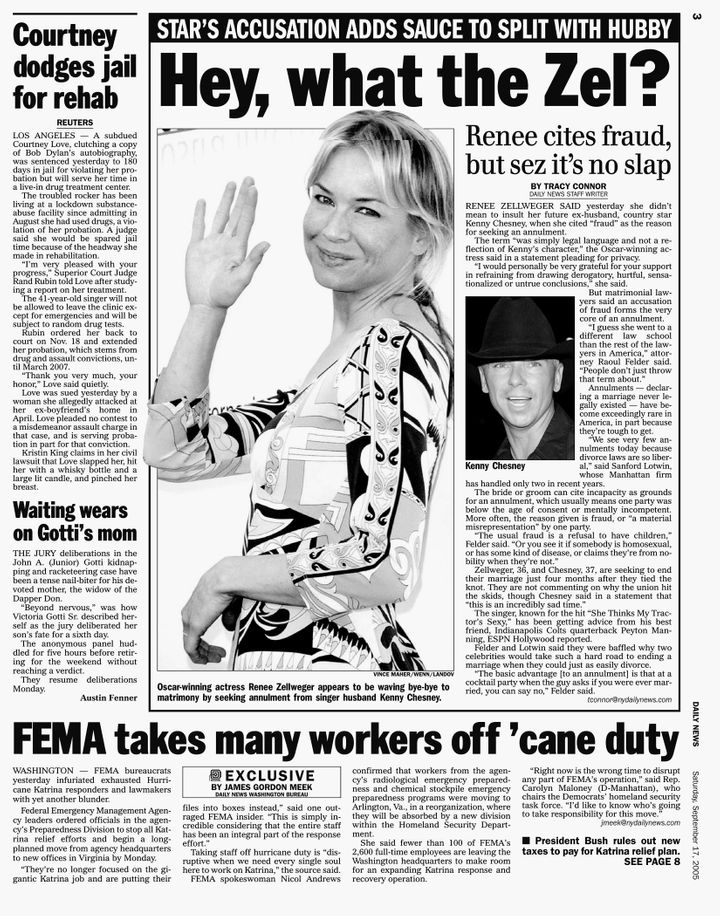 Daily News page 3, September 17, 2005.