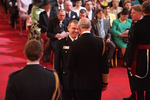 Chief constable David Thompson receives his Queen's Police