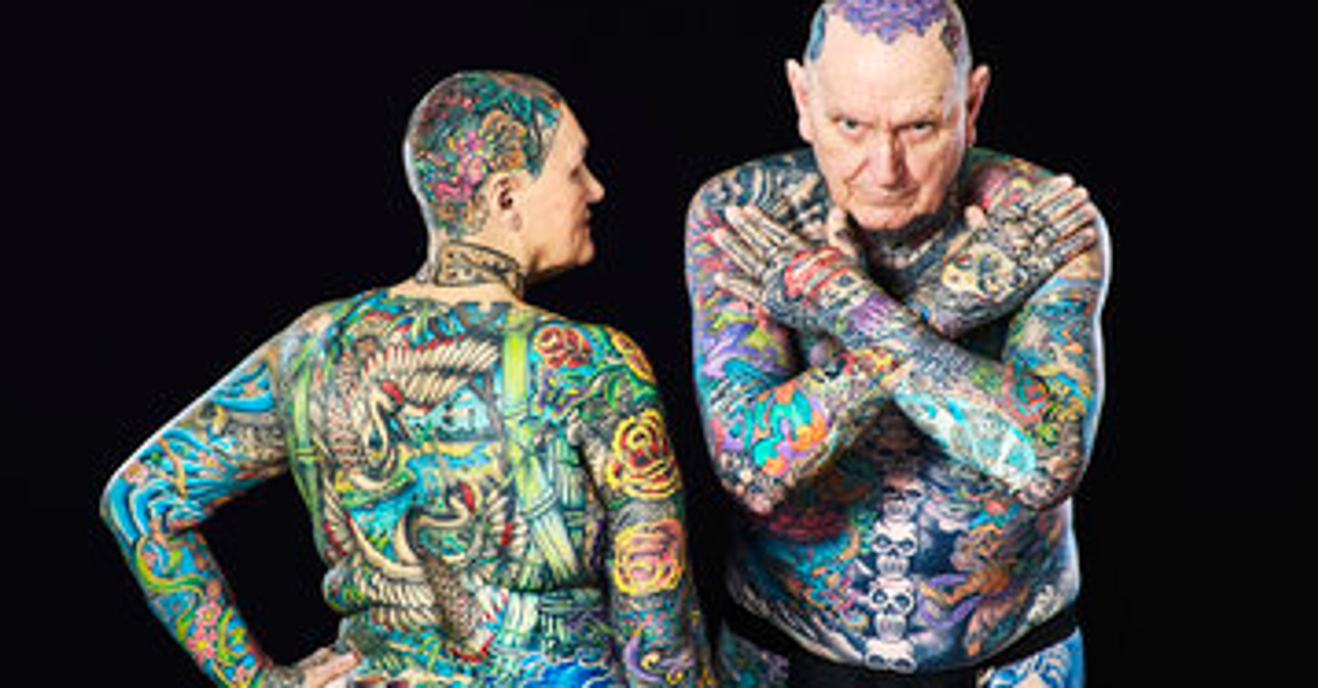 senior couple breaks world record for most tattoos on the body