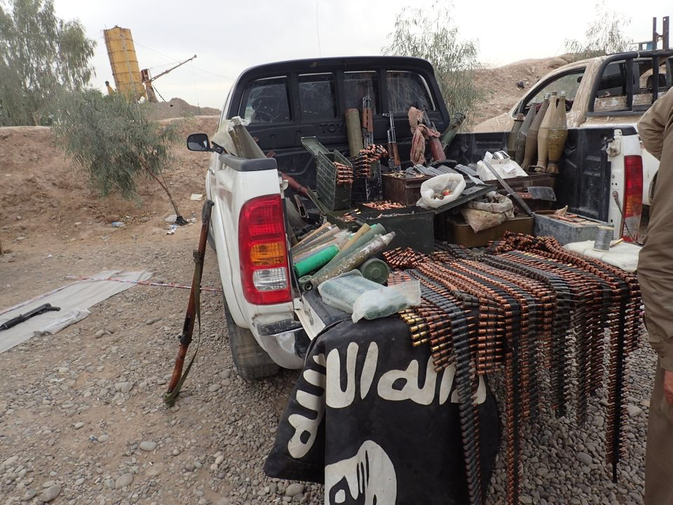 An Islamic State vehicle recovered with ammunition and