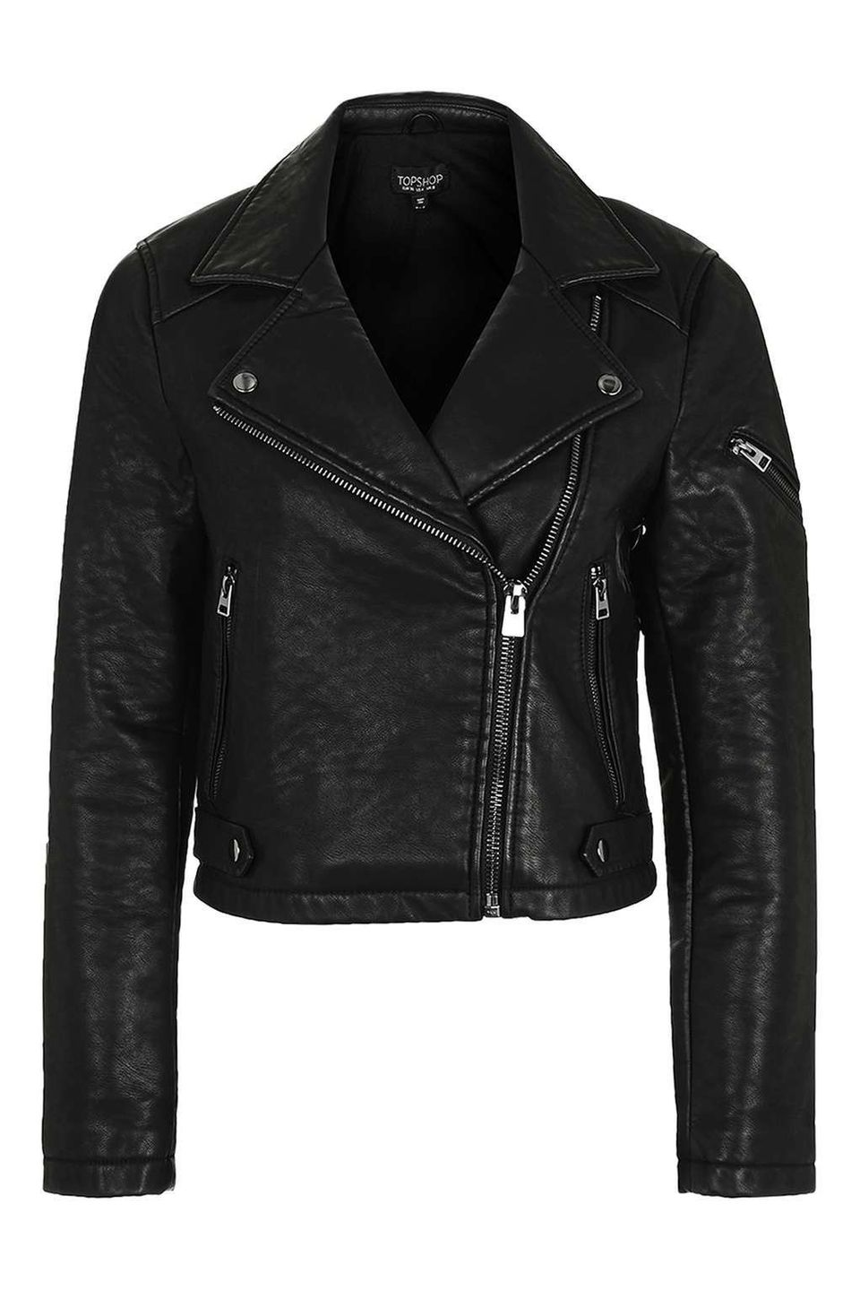 "<a href=""http://us.topshop.com/en/tsus/product/faux-leather-biker-jacket-5845385"" target=""_blank"">Topshop</a> Faux Leather Bi"