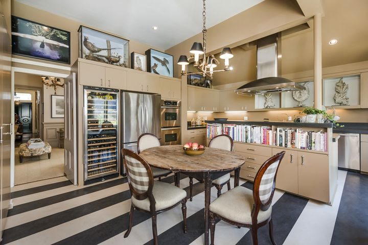 """The kitchen of the home on Broderick Street in San Francisco. The interior design in the listing photos looks drastically different than the interior set used on """"Full House."""""""
