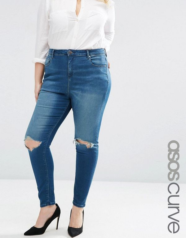 """<a href=""""http://us.asos.com/ASOS-CURVE-High-Waist-Ridley-Skinny-Jeans-In-Mahogony-Dark-Wash-With-Rip/1bksuf/?iid=6447324&"""