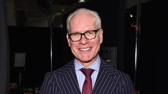NEW YORK, NY - SEPTEMBER 09: Tim Gunn poses backstage at the Project Runway fashion show during New York Fashion Week: The Shows at The Arc, Skylight at Moynihan Station on September 9, 2016 in New York City.  (Photo by Dimitrios Kambouris/Getty Images)