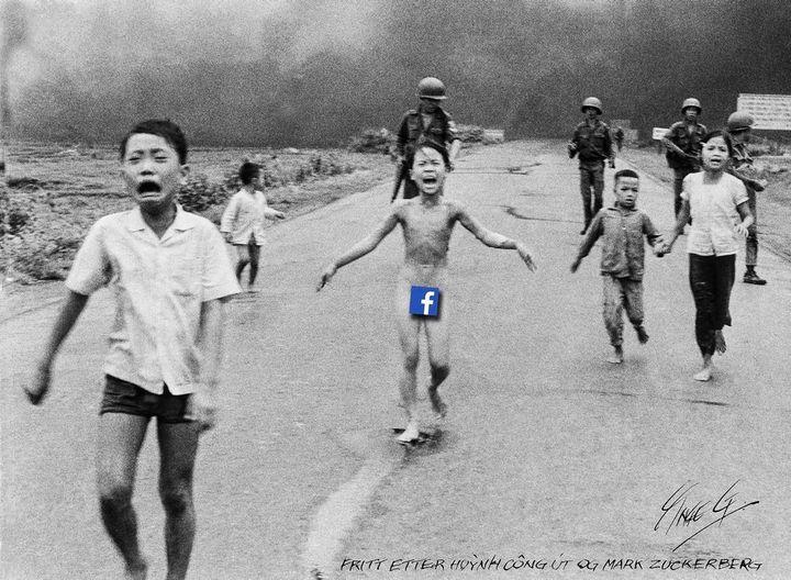 Ingre Grodum, a cartoonist atAftenposten, created this commentary on Facebook's decision.