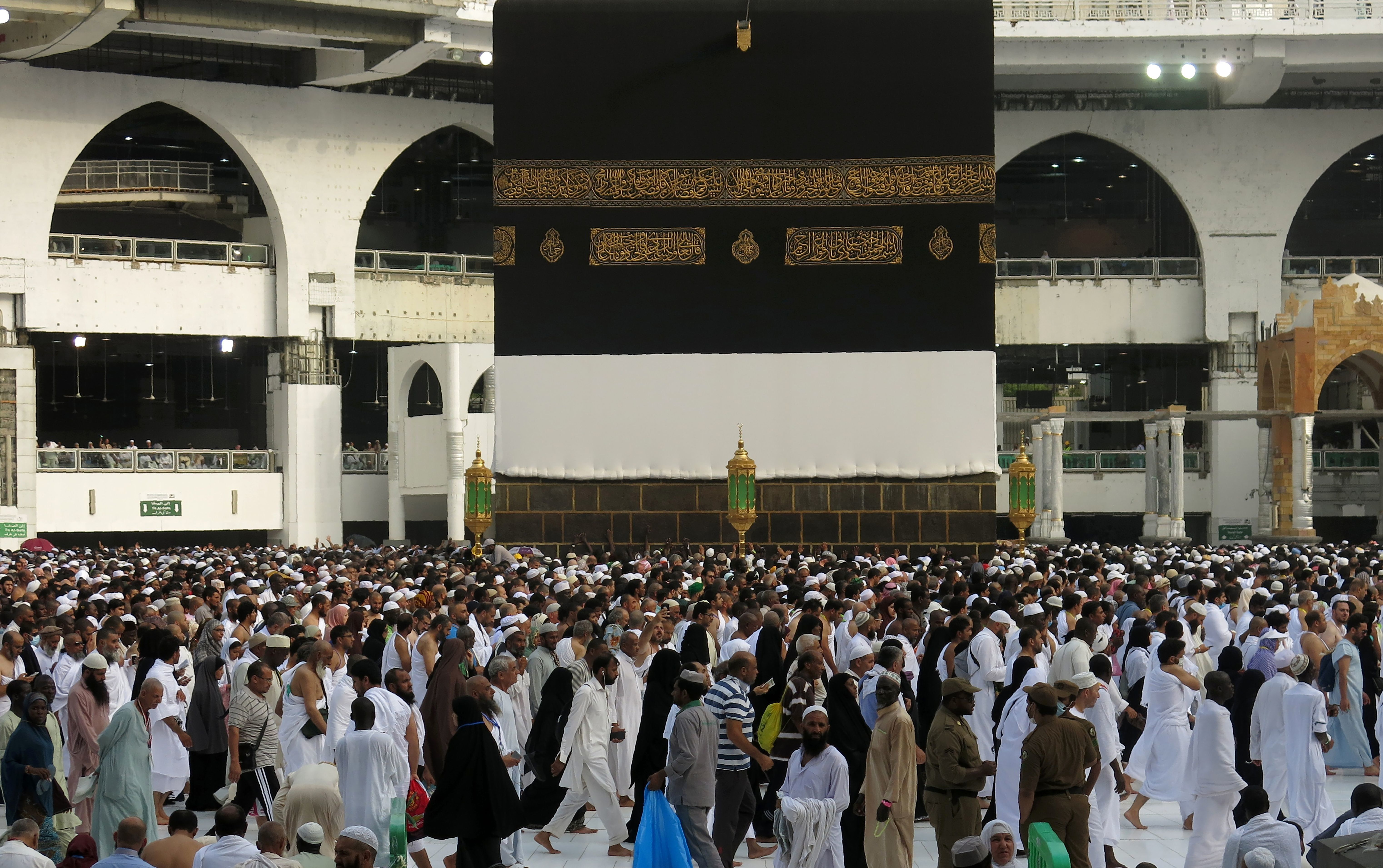 A picture taken on September 9, 2016 shows a general view of Muslim pilgrims from all around the world circling around the Kaaba at the Grand Mosque, in the Saudi city of Mecca. The annual Hajj pilgrimage begins on September 10, and more than a million Muslims have already flocked to Saudi Arabia in preparation for what will for many be the highlight of their spiritual lives.  / AFP / AHMAD GHARABLI        (Photo credit should read AHMAD GHARABLI/AFP/Getty Images)