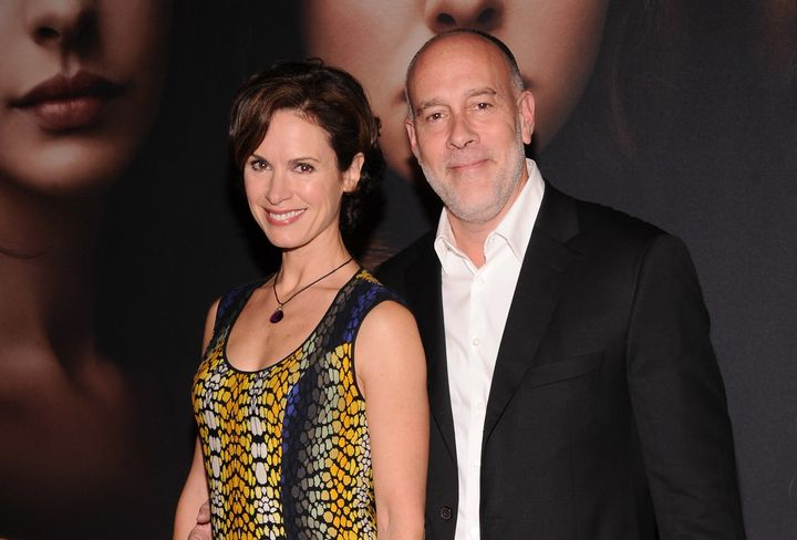 Elizabeth Vargas and Marc Cohn at a movie premiere in 2012.